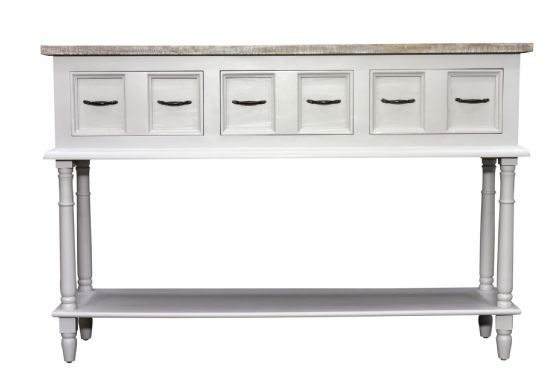 Fowey High Console Table - Grey